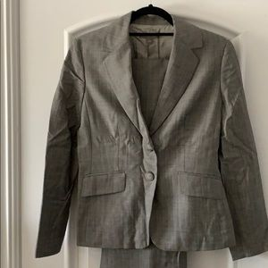 Ann Taylor Houndstooth Grey Suit Jacket